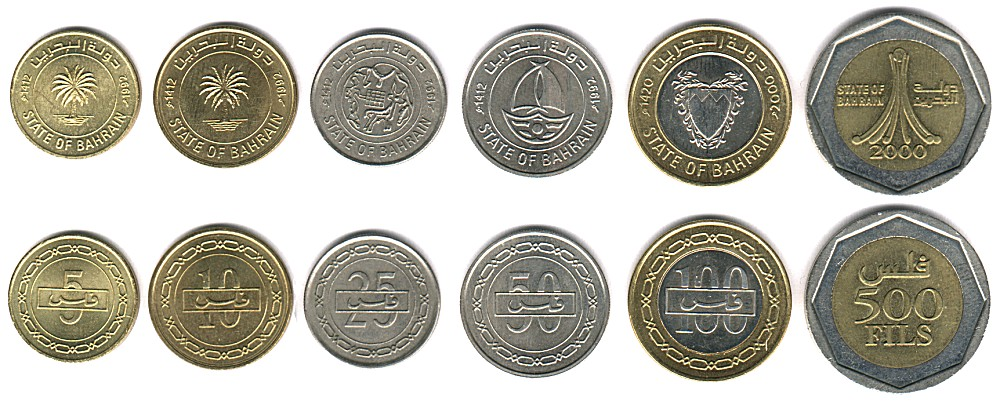 bahrain currency coins images