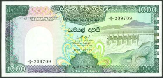 Image result for sri lanka 1000 rupees note
