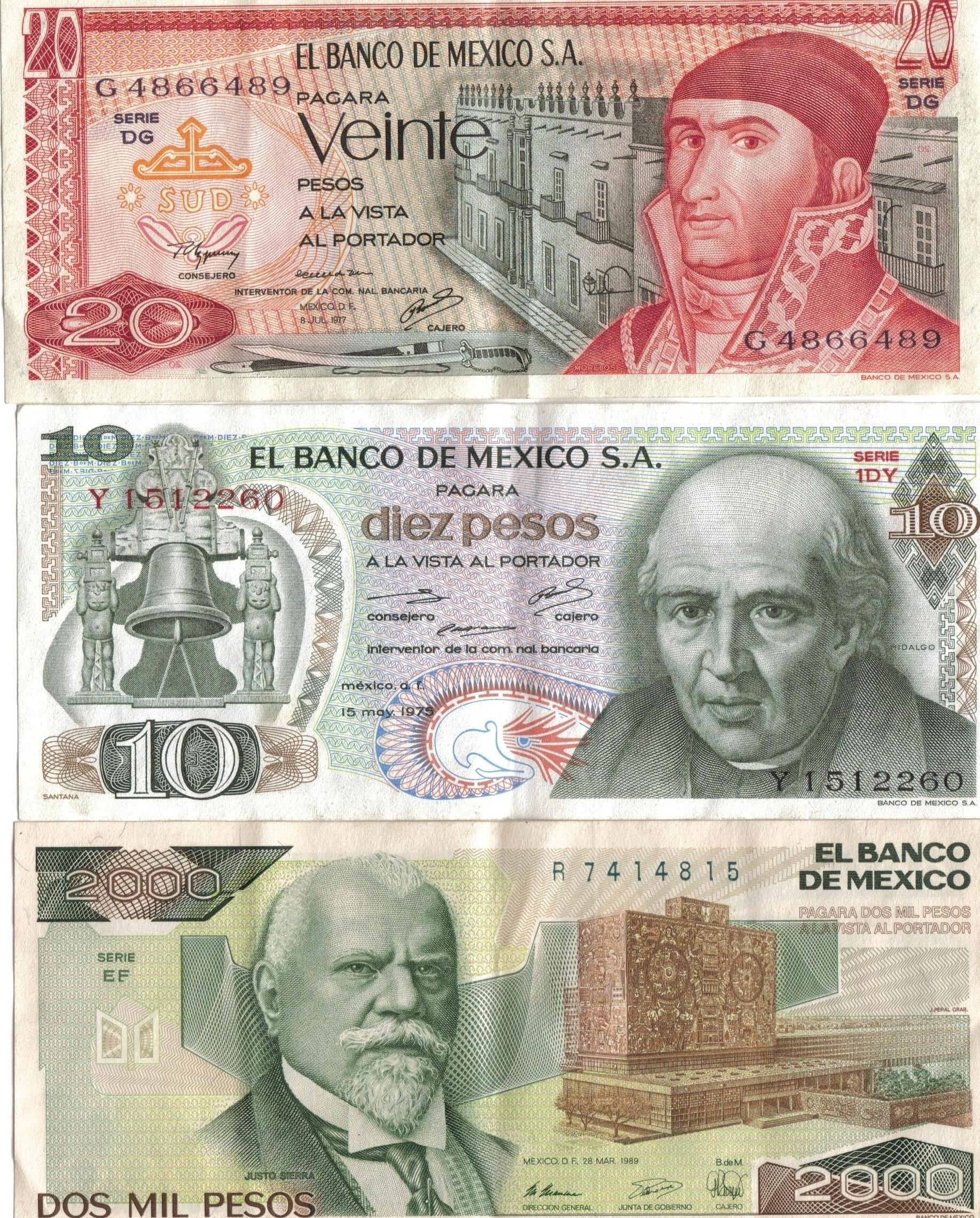 Mexican Currency Pictures 105
