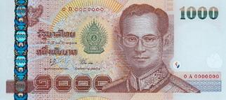 Thailandske baht - valuta | Nationale flag