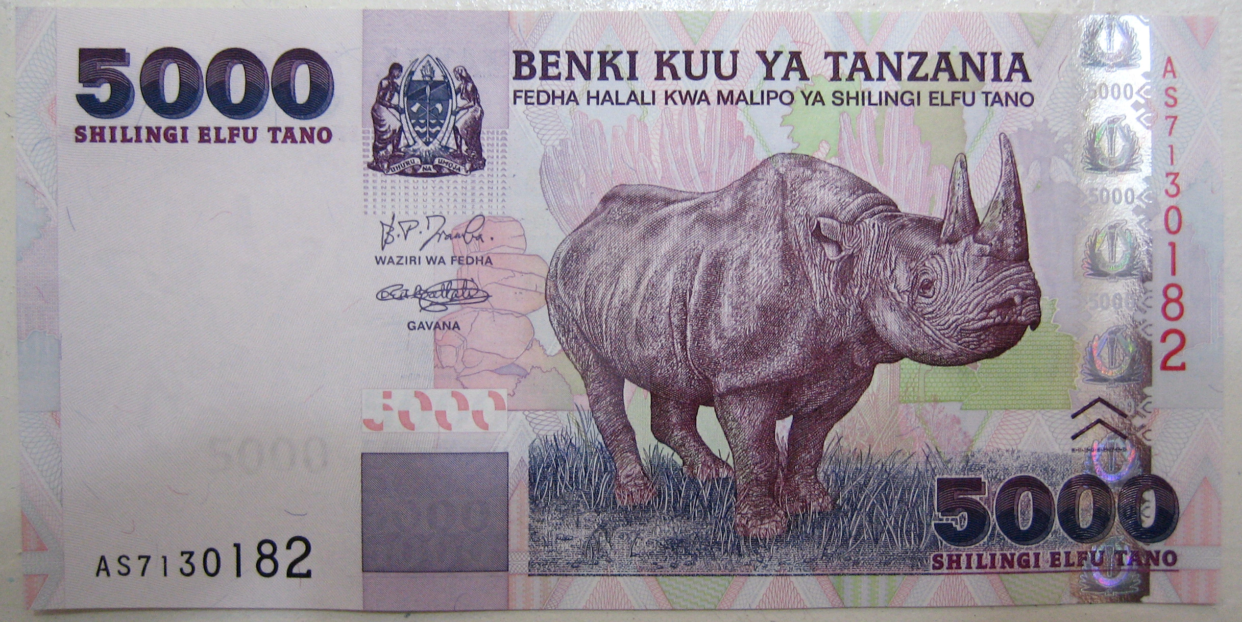 Tanzanian shilling - currency | Flags of countries