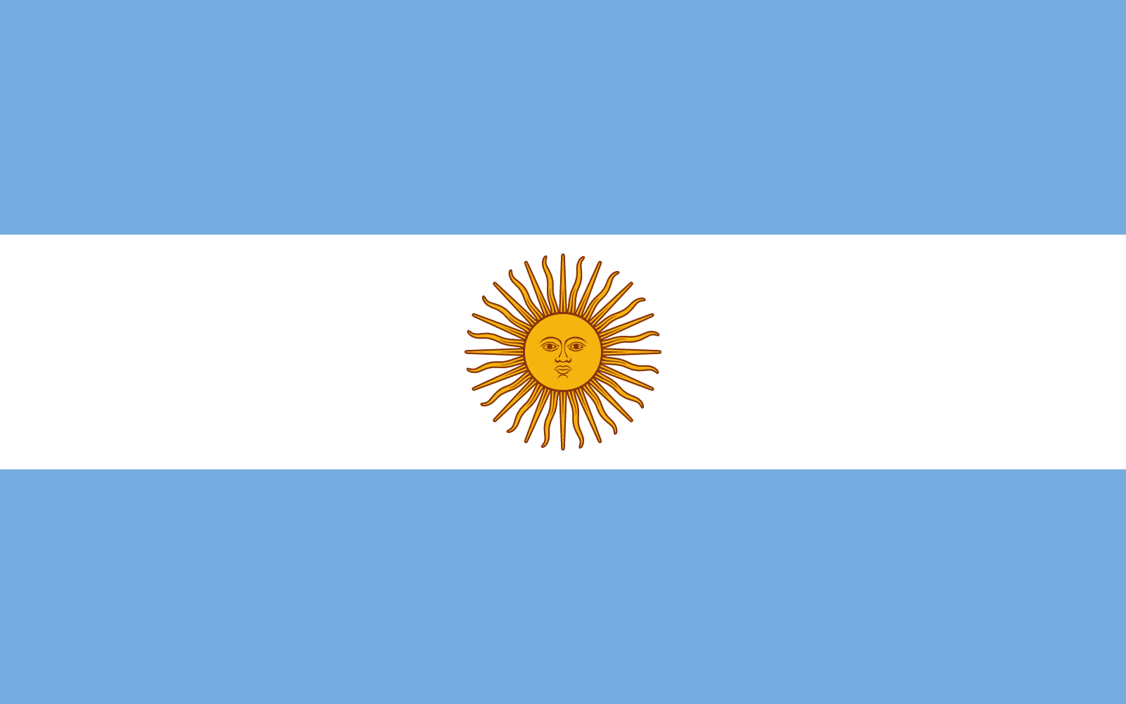 Resultado de imagen para bandera de argentina