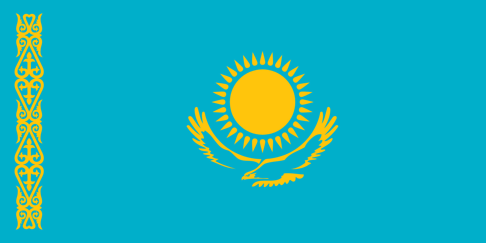 🇰🇿 Flag of Kazakhstan – Flags of the world
