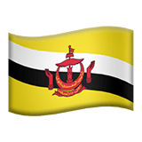 Brunei Apple Emoji