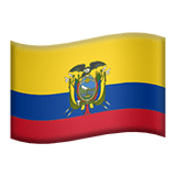 Ecuador Apple Emoji