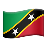 Saint Kitts and Nevis Apple Emoji
