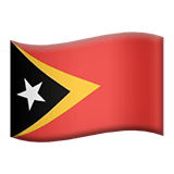 Timor-Leste Apple Emoji