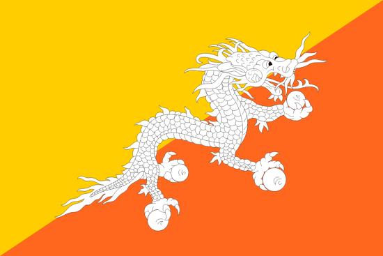 Flagge Bhutans