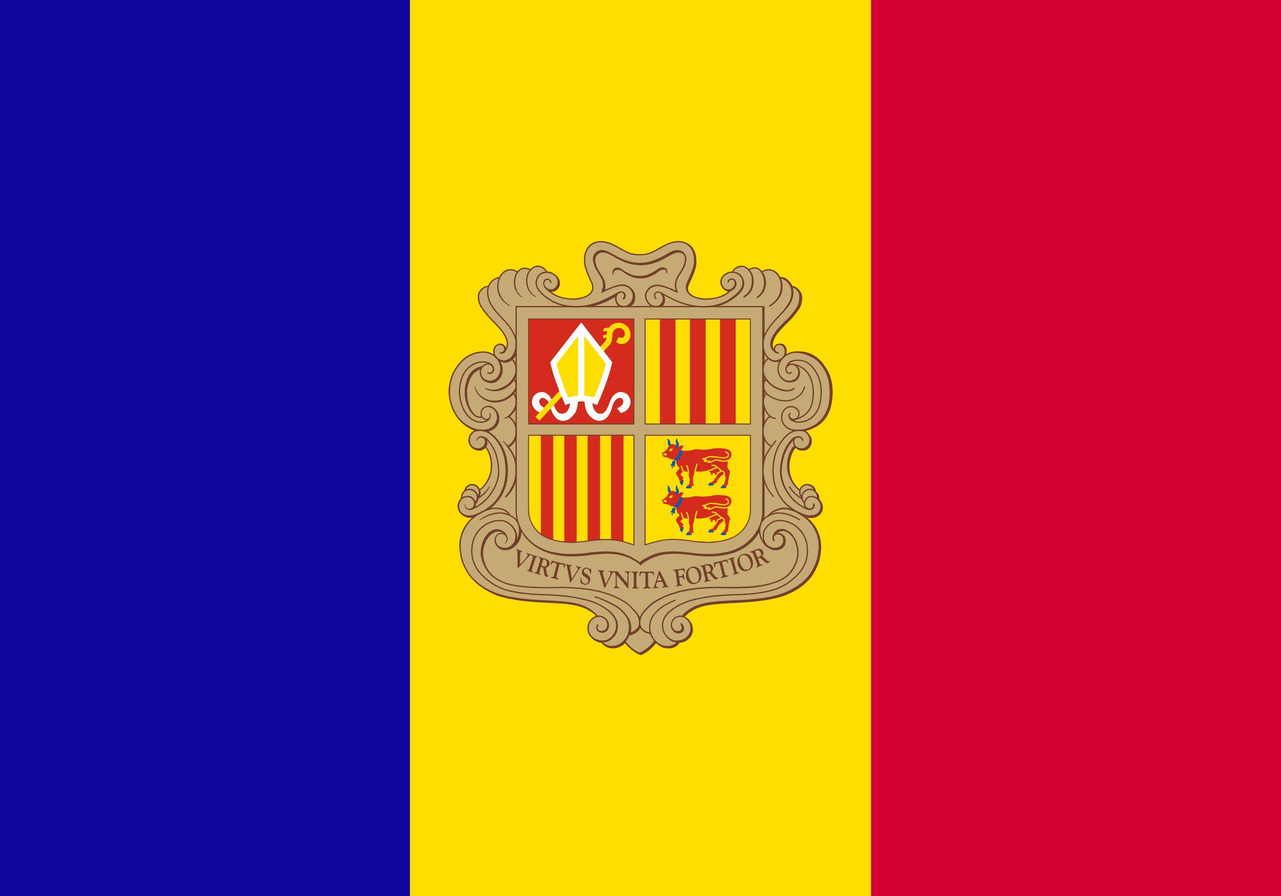 Bandera de lEstat andorrà
